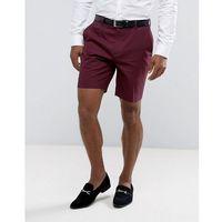 Asos slim mid length smart short in purple - purple