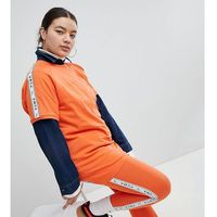exclusive to asos plus taped side stripe leggings in orange - orange marki Puma