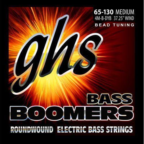 bass boomers struny do gitary basowej 4-str. medium,.065-.130, bead tuning marki Ghs