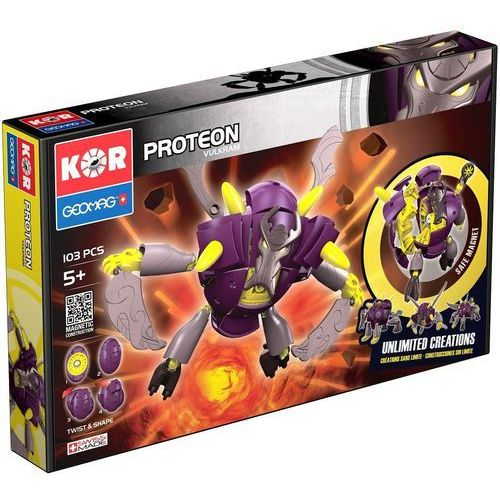 Klocki konstrukcyjne Geomag KOR - Proteon Vulkram 103 elementy 0871772006336