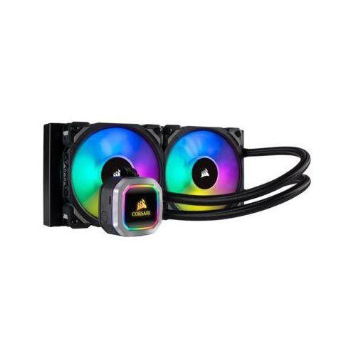 Chłodzenie wodne procesora hydro series h100i rgb platinum cw-9060039-ww marki Corsair