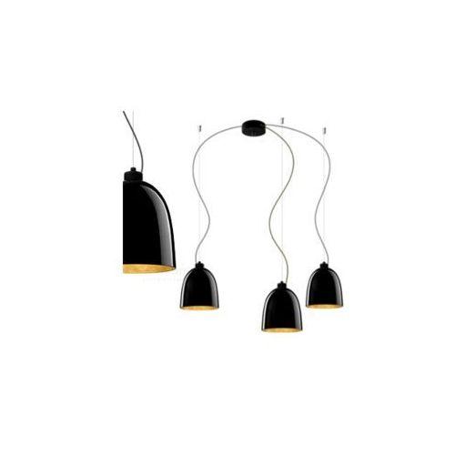Sotto luce Lampa wisząca awa 3/s/black/gold szklana oprawa zwieszana czarna złota (1000000199413)