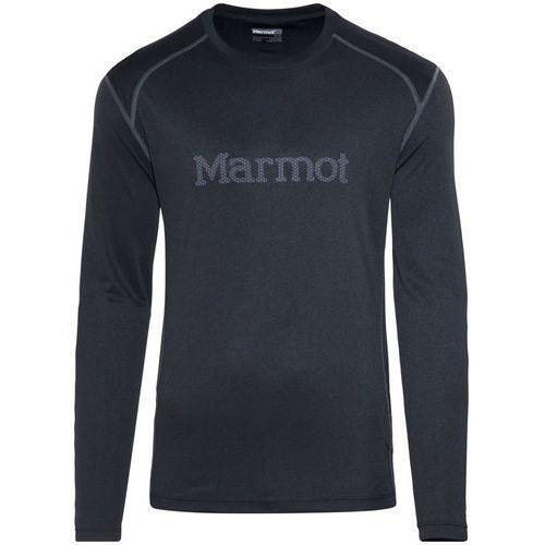 Marmot windridge with graphic bluzka z długim rękawem mężczyźni czarny xl 2018 koszulki treningowe z długim rękawem