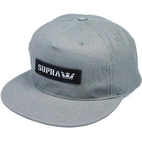 Czapka z daszkiem - mark patch snap grey (030) rozmiar: os marki Supra