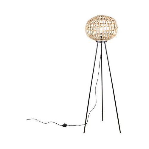 Wiejska bambusowa lampa podłogowa - Canna