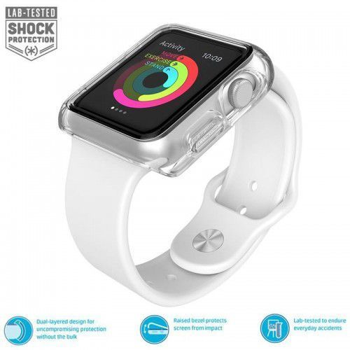 Speck CandyShell Fit - Bumper do Apple Watch 42mm (Clear/Clear), 75227-5085