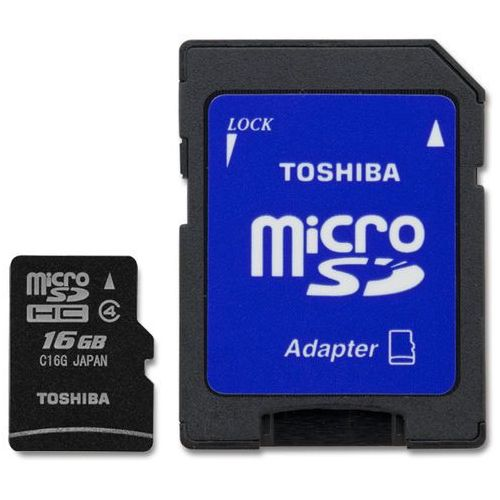 Karta microsd 16gb+adapter class 4 marki Toshiba