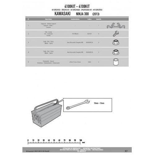 Kappa  4108kit adapter do zamontowania stelaża te4108k bez użycia stelaża centralnego