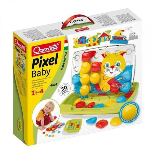Quercetti Mozaika Pixel Baby Basic 30 elementów, 1_591515