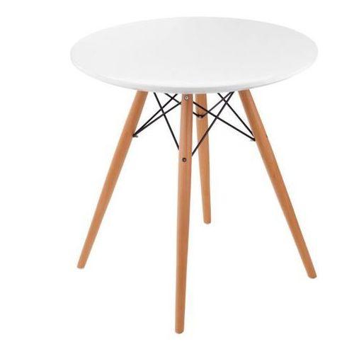 D2.design Stół dtw 70 cm biały/ naturalny
