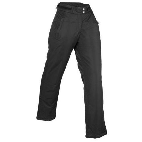 Bonprix Lekkie spodnie loose fit czarno-biały z nadrukiem