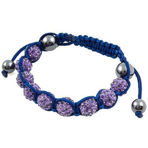 BRANSOLETKA SHAMBALLA TANZANITE BLUE - TANZANITE BLUE, kolor niebieski