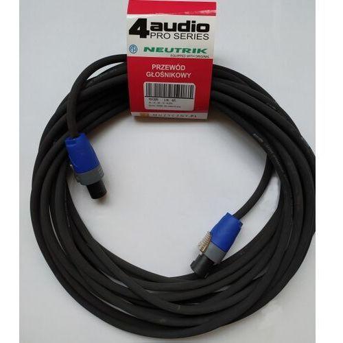 4Audio LS2400 5m przewód głośnikowy 2x4mm ze speakonem NL4FX