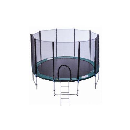 Athletic24  366 cm - trampolina ogrodowa z siatką + drabinka