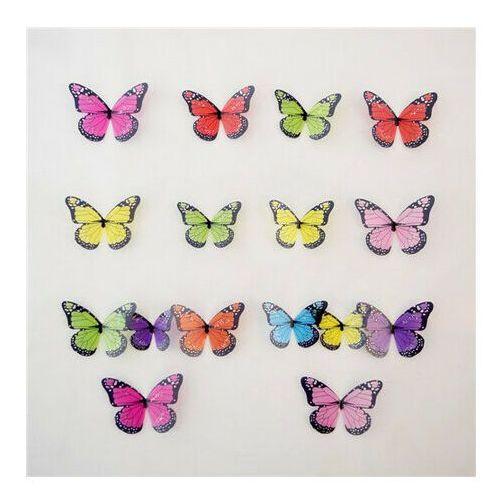 4-home Naklejki 3d motyle kolorowe, 19 szt., (8592746000793)
