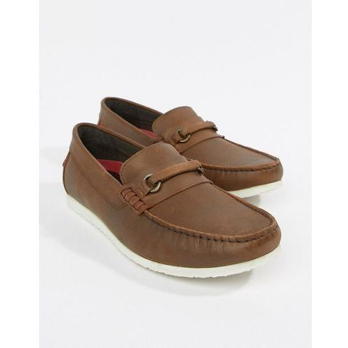 Silver street bar loafers in brown leather - brown