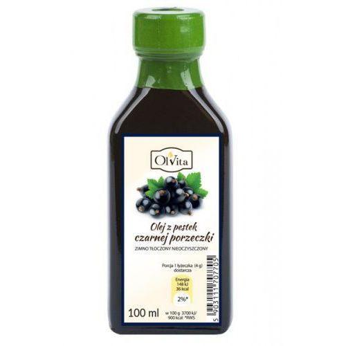 Olej z pestek czarnej porzeczki zimno tłoczony nieoczyszczony 100ml marki Olvita