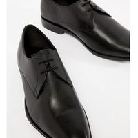 wide fit derby shoes in black leather - black marki Frank wright