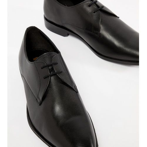 wide fit derby shoes in black leather - black, Frank wright