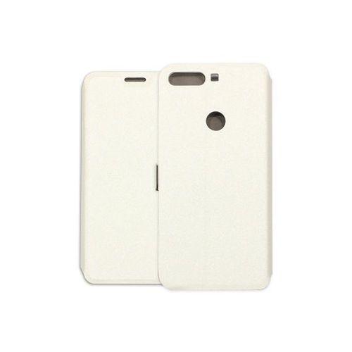 Huawei Honor 7C - etui na telefon Wallet Book - biały, kolor biały