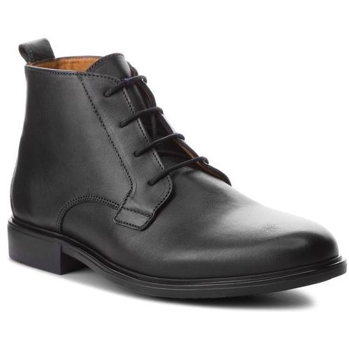 dac7511319d75 Kozaki - color block heel leather boot fm0fm01602 black 990 marki Tommy  hilfiger