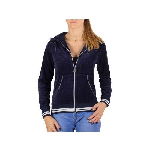 Bluza Reebok W Velour Jacket X66842 - Granatowy, bawełna