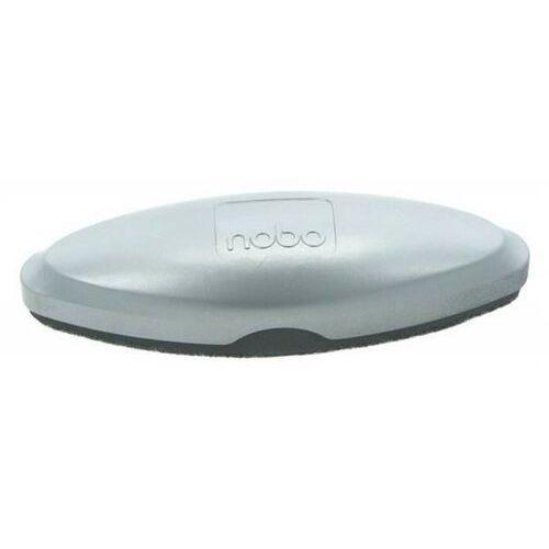 Gąbka do tablic szklanych NOBO magnetyczna z wymiennym wkładem srebrna
