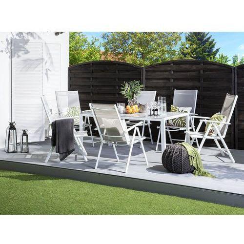 Beliani Zestaw ogrodowy 6-osobowy szary aluminiowy catania (4251682209267)