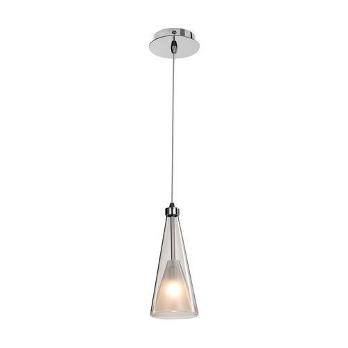 Lampa wisząca butio md9190-1a szklana oprawa halogenowa zwis stożek przezroczysty biały marki Italux