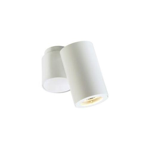 Kaspa Spot lampa sufitowa barlo i 70024101 metalowa oprawa natynkowa regulowana minimalistyczna tuba biała (5902047300042)