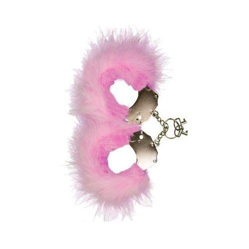 Śmieszna zabawka-kadanki - metallic handcuffs,feather cov.. pink marki Adrien lastic