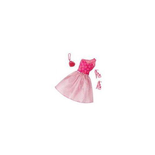 Barbie sukienka z dodatkami Mattel (różowa)