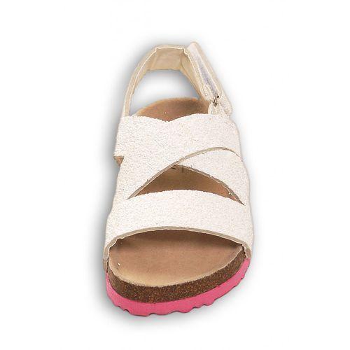 Sandały dziewczęce z brokatem 4z36al marki Minoti