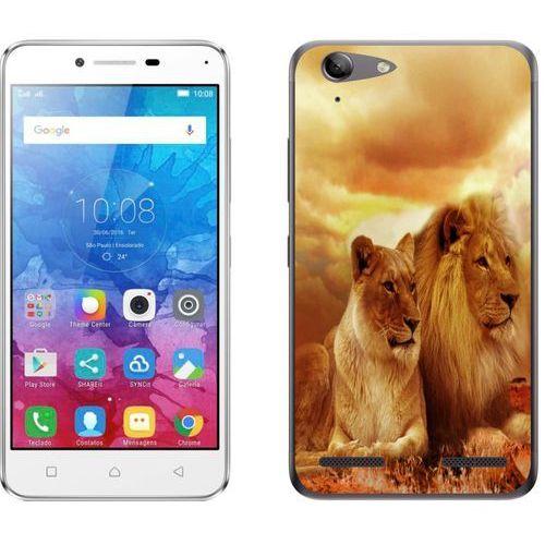 Lenovo K5 / K5 Plus - etui na telefon - Kolekcja zwierzęta - lwy - L19