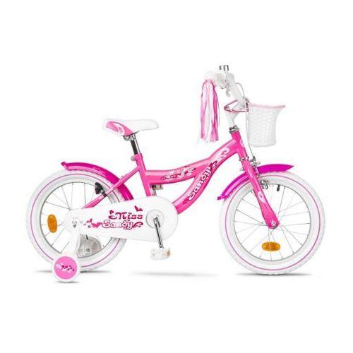 """600-51-10_acc rower dziecięcy sandy 16"""" różowy wzór serca marki Accent"""