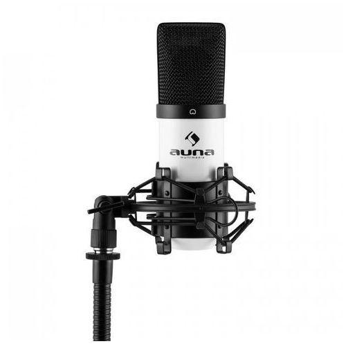 Auna Mic-900wh usb mikrofon pojemnościowy biały charakterystyka kardioidalna studyjny