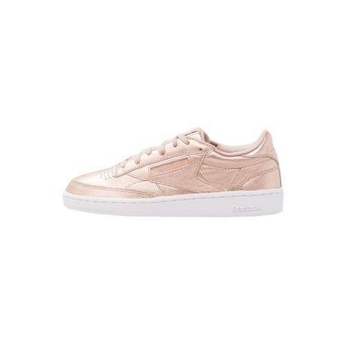 Reebok  classic club c 85 lthr tenisówki i trampki pearl metallic peach/white