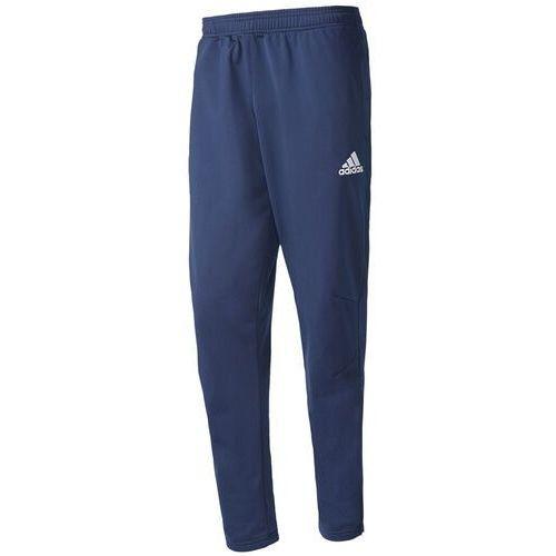 Spodnie męskie adidas Tiro 17 Polyester Pants granatowe BQ2619, kolor niebieski