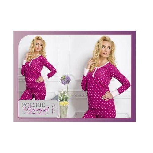 Piżama damska KOKO: bordo, kolor czerwony