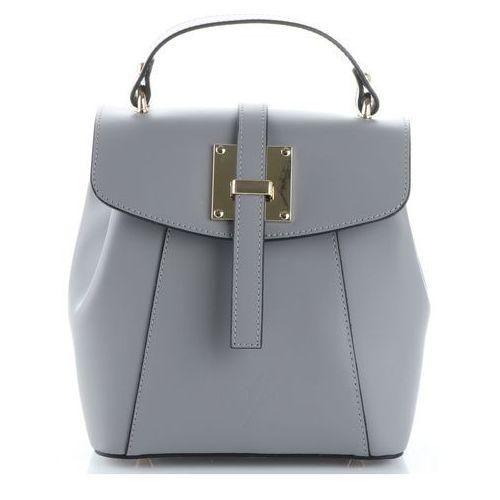cc170f284fd46 Eleganckie włoskie torebki skórzane firmowe plecaczki damskie szare  (kolory) marki Vittoria gotti