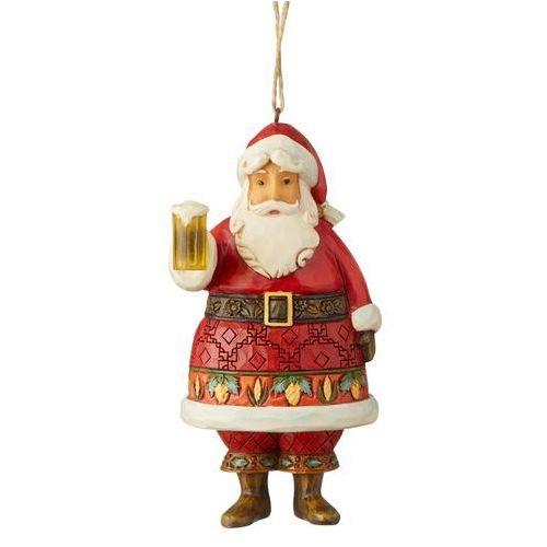 Mikołaj z kuflem piwa craft beer santa (hanging ornament) 6004304 figurka ozdoba świąteczna gwiazdor marki Jim shore