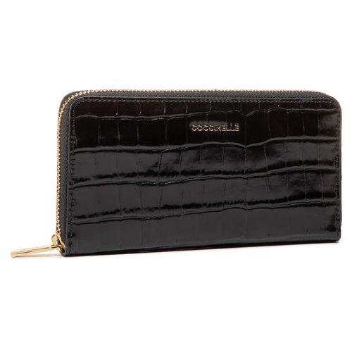 Duży Portfel Damski COCCINELLE - FW9 Metallic Croco Shiny Soft E2 FW9 11 04 01 Noir 001