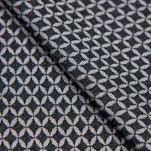 Ultramaszyna Tkanina żakardowa - szaro-wrzosowa z czarnymi geometrycznymi wzorami