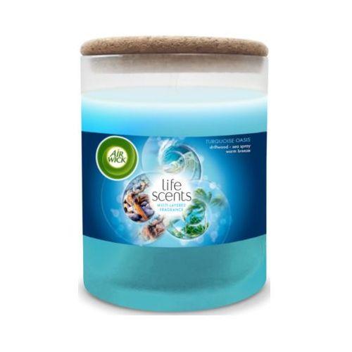 Air wick 185g life scents świeczka dekoracyjna o zapachu rajskiej plaży marki Reckitt benckiser