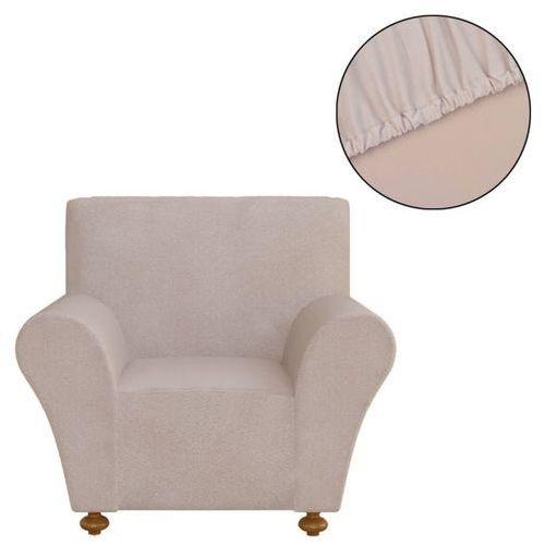 vidaXL Elastyczny pokrowiec na sofę, z dżerseju, beżowy