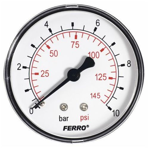 Manometr Ferro 10 bar fi 63 mm 1/4 Axial, M6310A