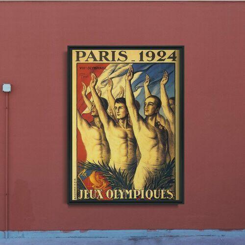 Plakat retro do salonu plakat retro do salonu igrzyska olimpijskie w paryżu marki Vintageposteria.pl