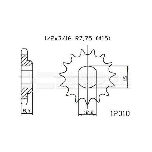 Zębatka przednia JT 50-12010-10, 10Z, rozmiar 415 2201482 KTM Mini Adventure 50