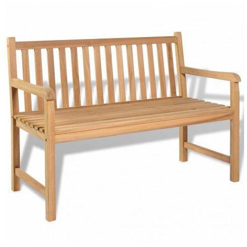 Drewniana ławka ogrodowa tanas - brązowa marki Producent: elior