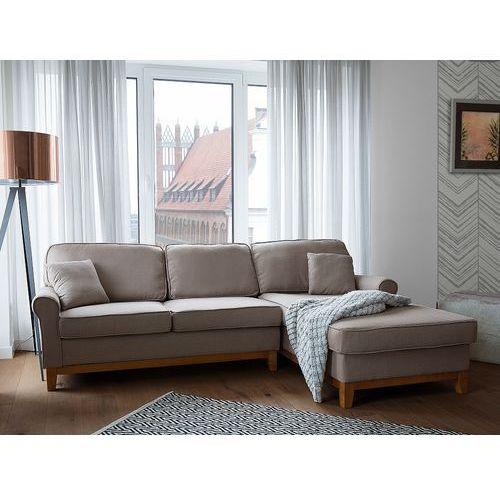 Narożnik jasnobrązowy - kanapa - sofa - narożna - wypoczynek - nexo marki Beliani